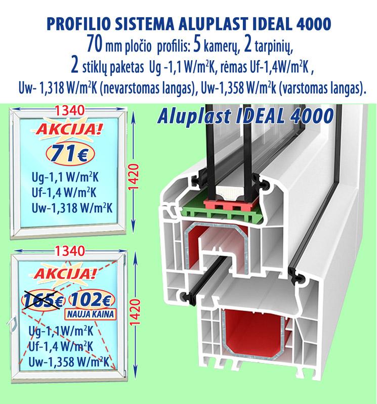 Plastikiniai langai ALUPLAST-4000