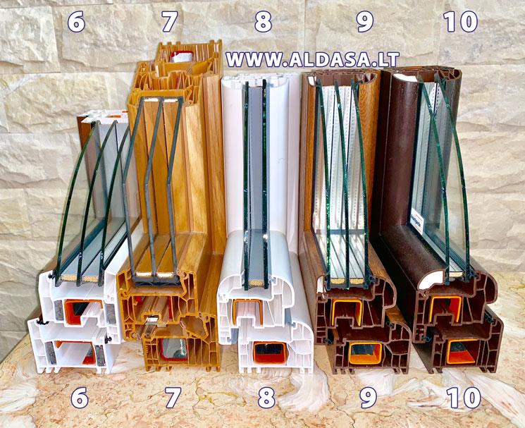 Plastikinių langų profiliai, palyginimas