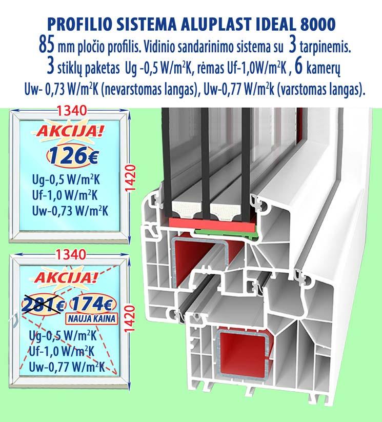 Plastikiniai langai Aluplast 8000