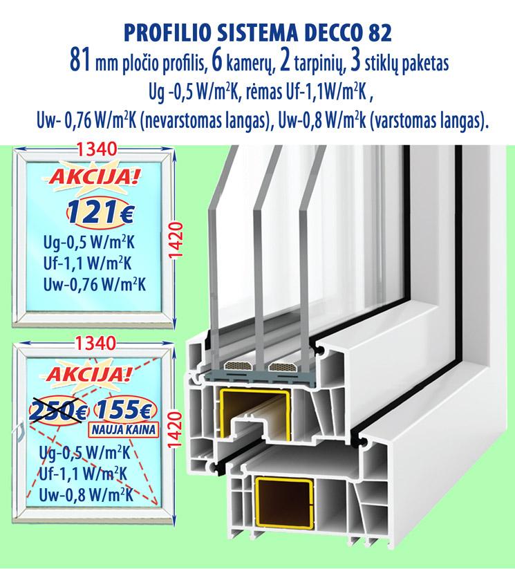Plastikiniai langai. DECCO 82