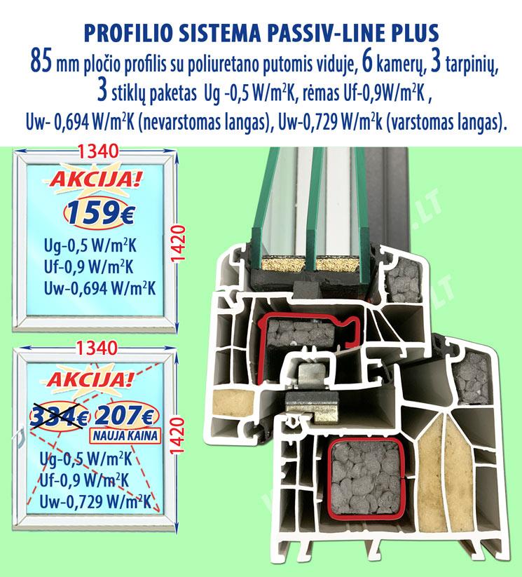 Plastikiniai langai PASSIV Line